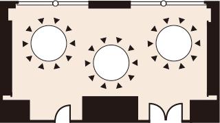 正餐形式(着席スタイル)