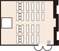 スクール形式(テーブル+イス)