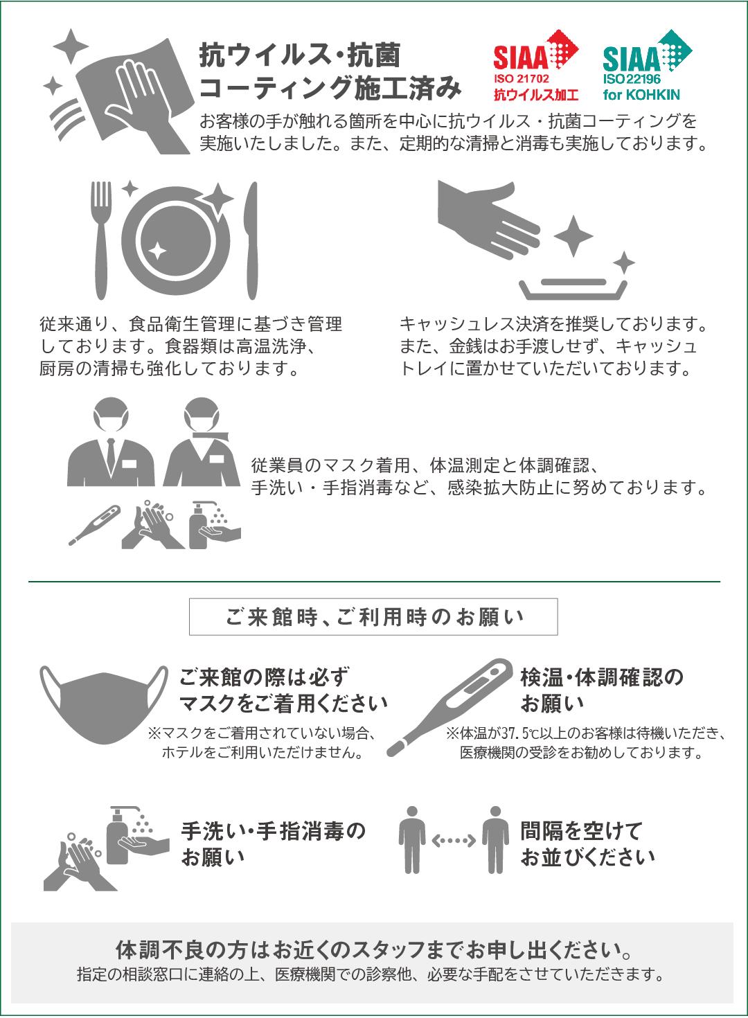 新型コロナウィルス感染症の拡大防止対策